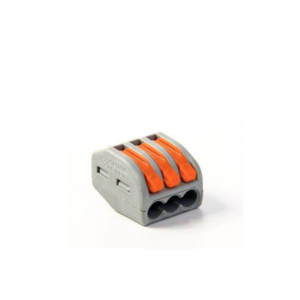222-413 Универсальная 3-проводная клемма 0.08 - 2.5 (4) мм.кв