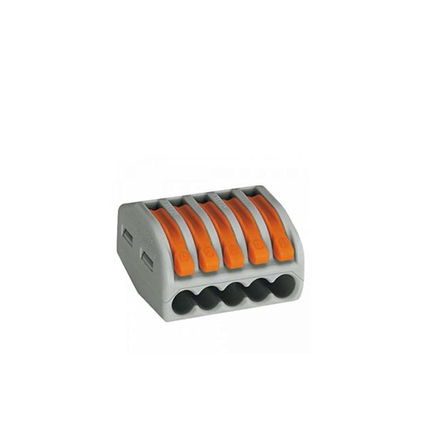 222-415 Универсальная 5-проводная клемма 0.08 - 2.5 (4) мм.кв