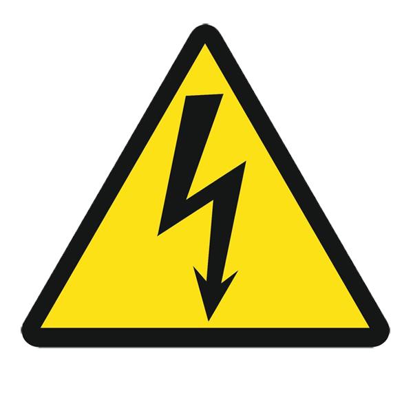 Предупредительный Плакат «Знак постоянный для предупреждения поражения электрическим током» 300х300