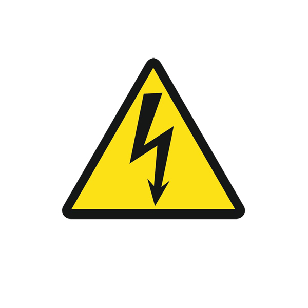 Предупредительный Плакат «Знак постоянный для предупреждения поражения электрическим током» 200х200